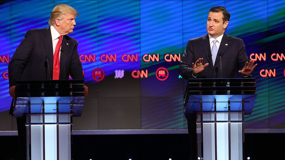 Donald Trump stares at Ted Cruz GETTY - H 2016