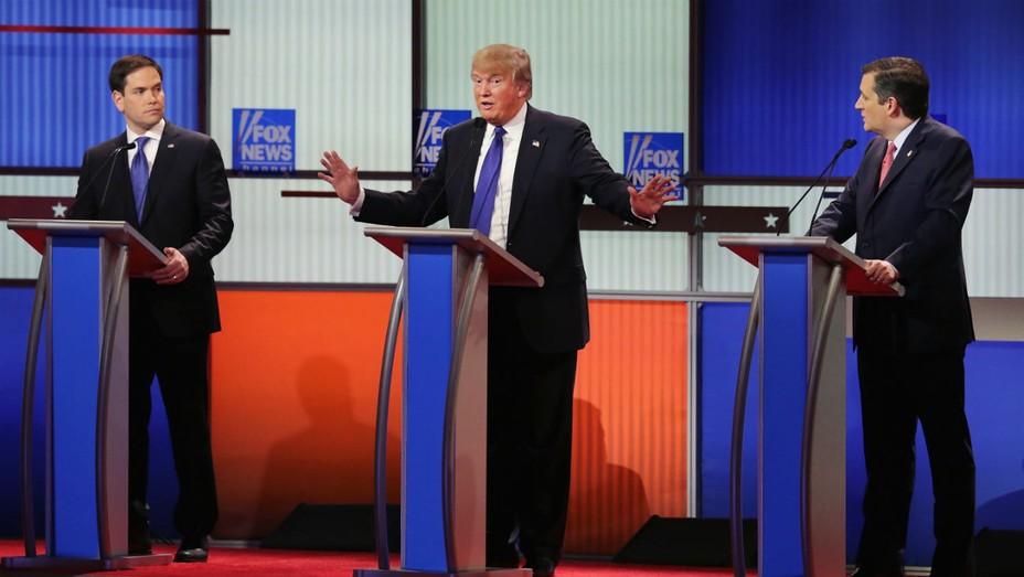 Trump, Rubio, Cruz Fox News Debate - Getty - H 2016