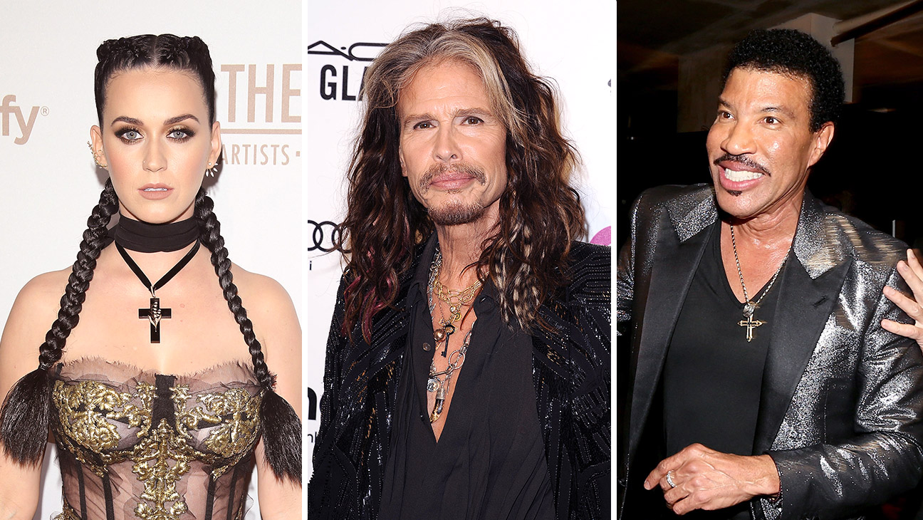 Katy Perry, Steven Tyler and Lionel Richie Split - Getty - H 2016