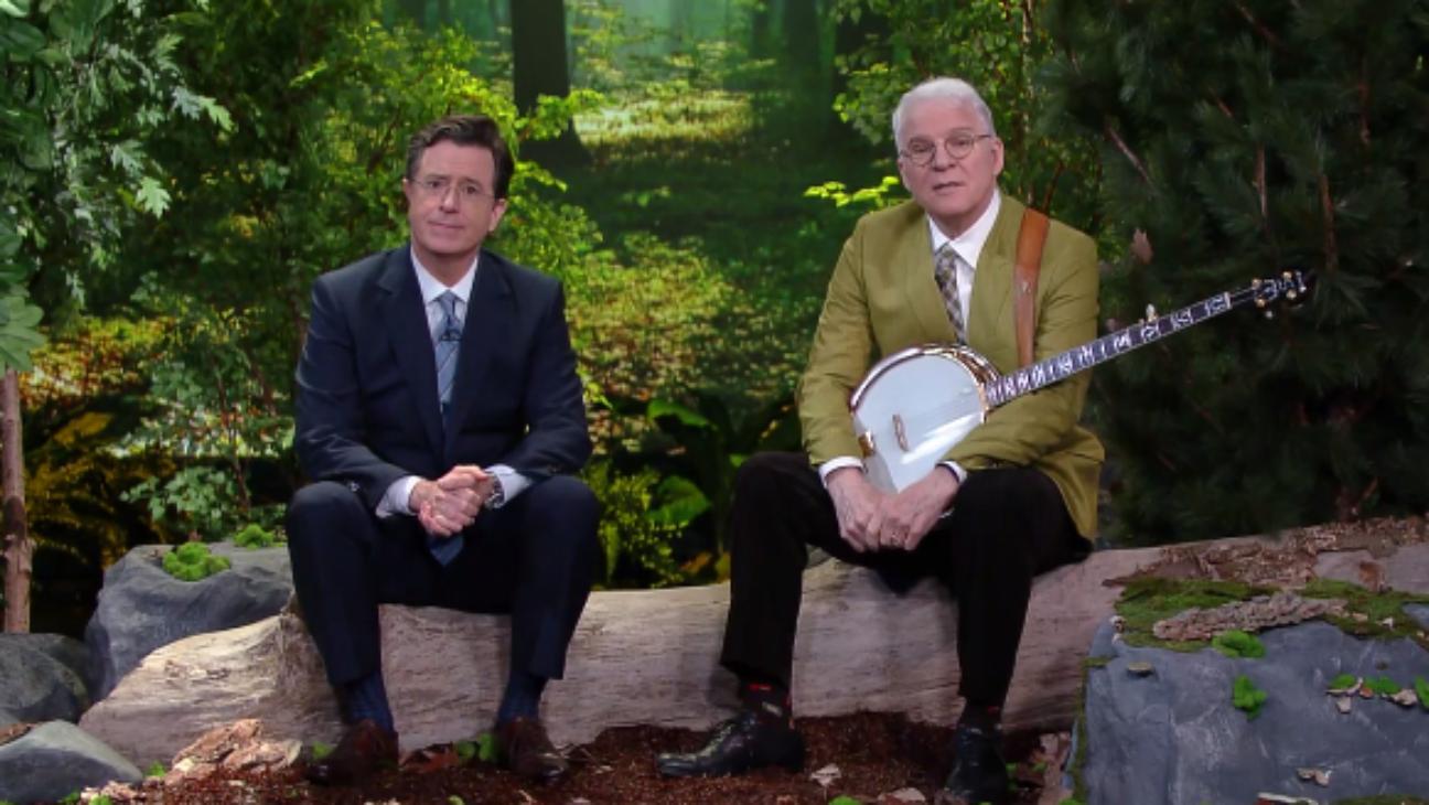 Steve Martin, Colbert on Late Show - H 2016