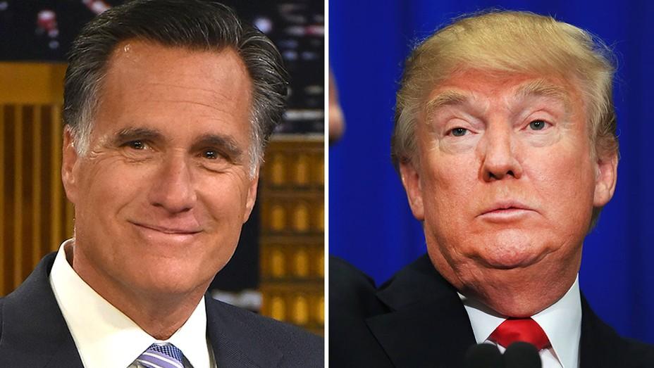 Mitt Romney and Donald Trump Split - H 2016