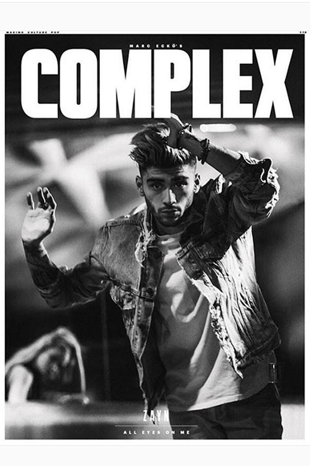 Complex Magazine Cover Screen shot ZAYN- P 2016