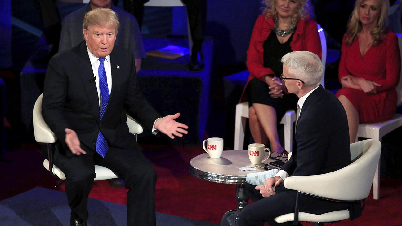 Donald Trump Anderson Cooper CNN Town Hall - Getty - H 2016
