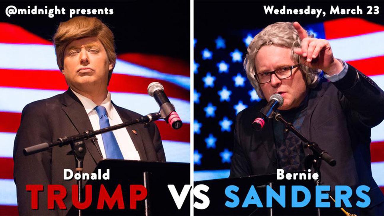 Trump v Sanders @midnight Special_art - Publicity - H 2016