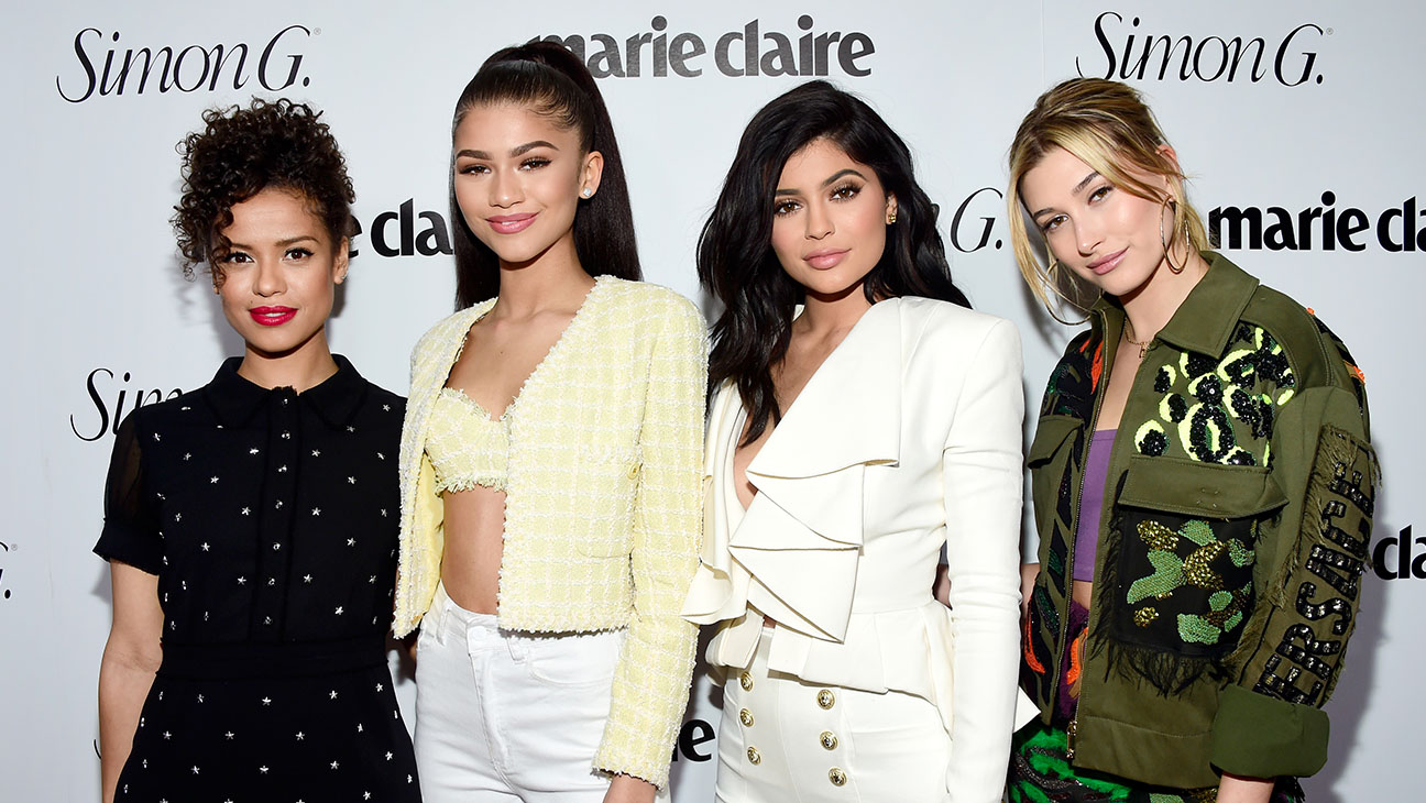 Marie Claire Fresh Faces -Gugu Mbatha-Raw, Zendaya, Kylie Jenner and Hailey Baldwin -H 2016