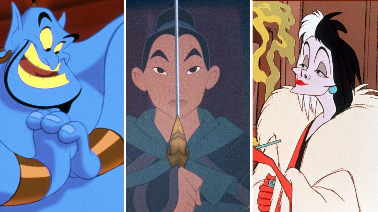 Genie from Aladdin, Mulan and Cruella De Vil - H 2016