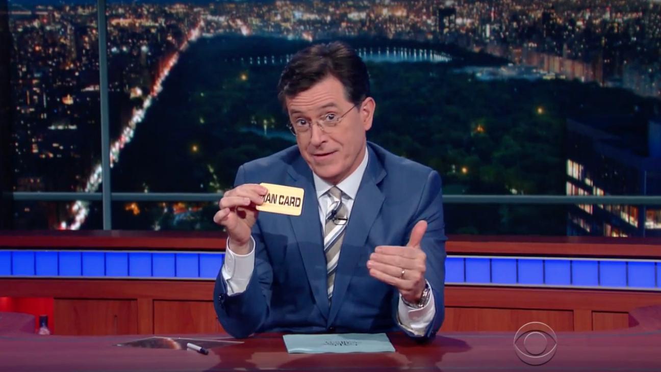 Stephen Colbert's Man Card — H 2016