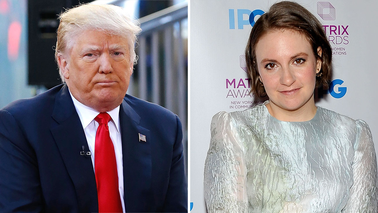 Donald Trump and Lena Dunha Split-Getty-H 2016