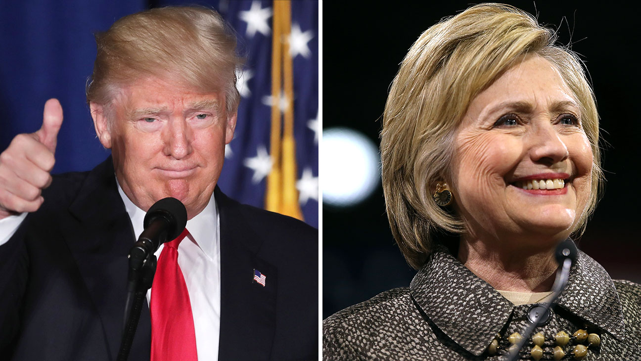 Donald Trump and Hillary Clinton split -Getty-H 2016