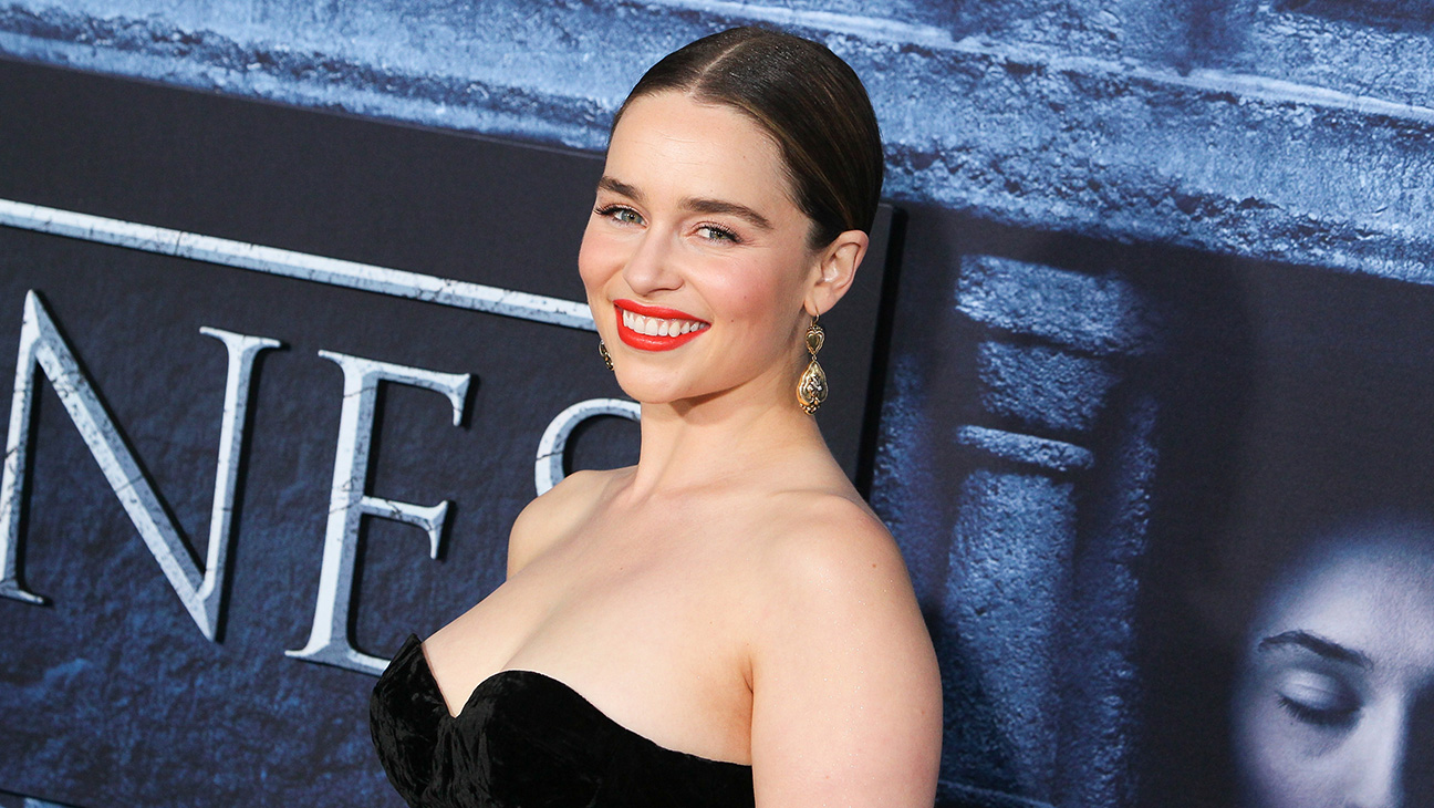 Emilia Clarke - Game of Thrones premiere - Getty - H 2016