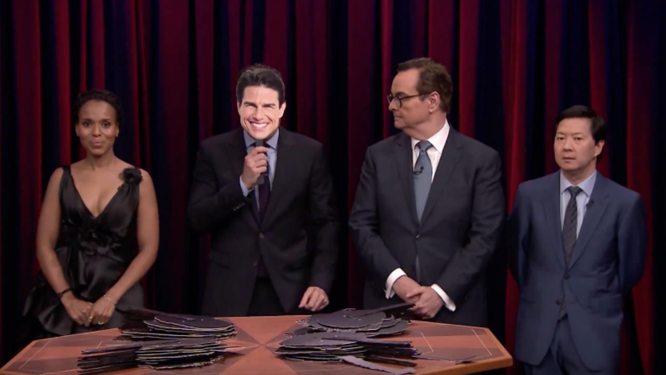 Kerry Washington on Tonight Show Face Off - H 2016