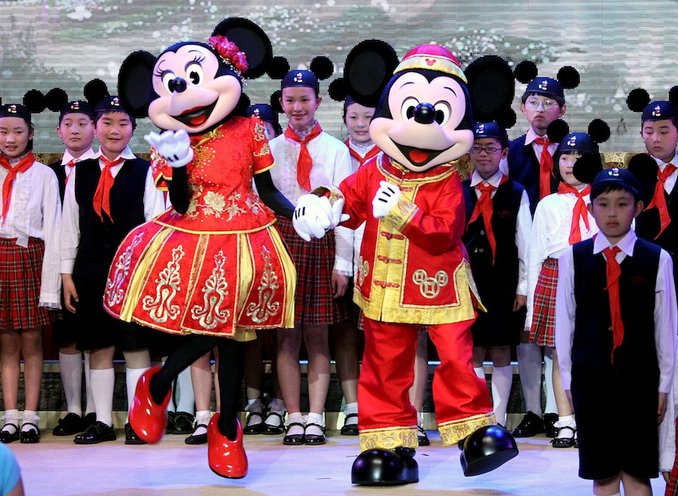 Mickey and Minnie Mouse Shanghai GETTY H 2016