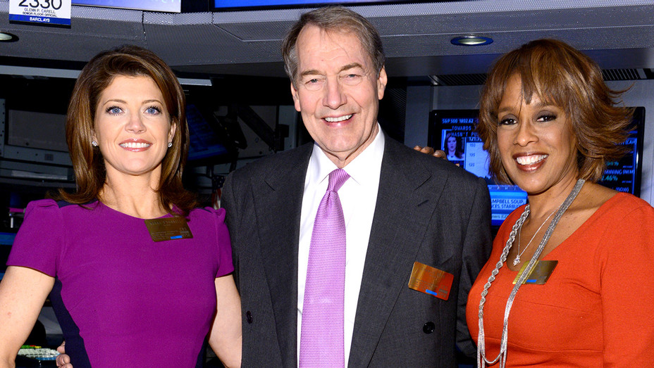 Charlie Rose, Gayle King and Norah O'Donnell  GETTY - H 2016