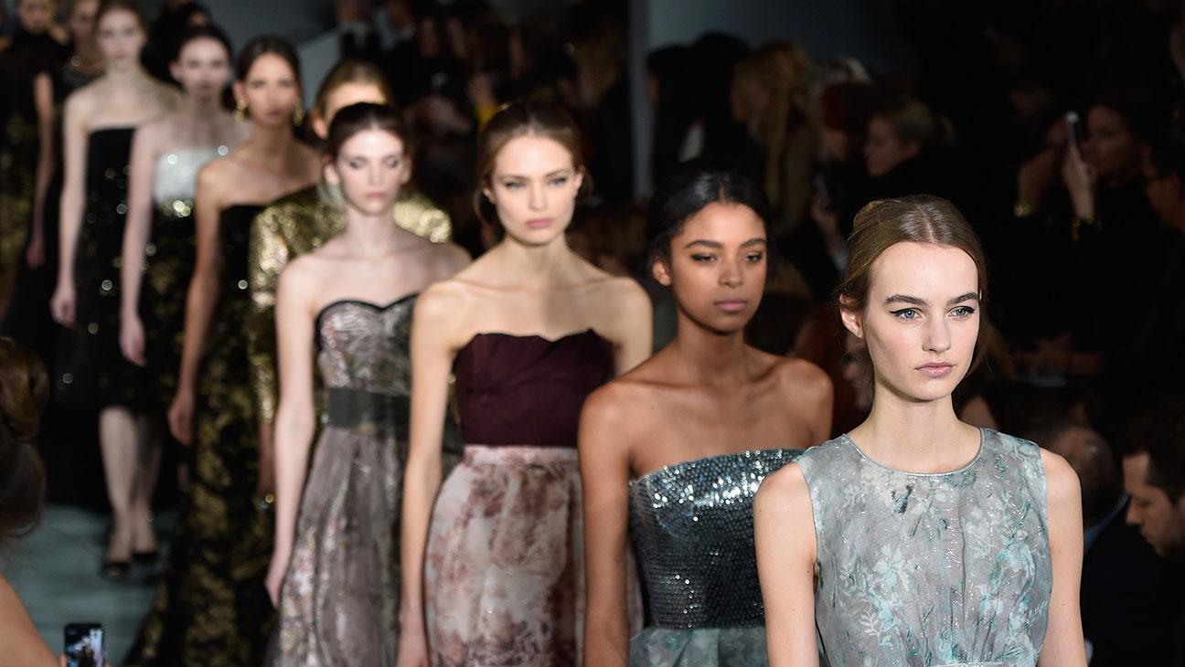 Models walk the runway wearing Oscar De La Renta Fall 2016 -New York Fashion Week -Getty-H 2016