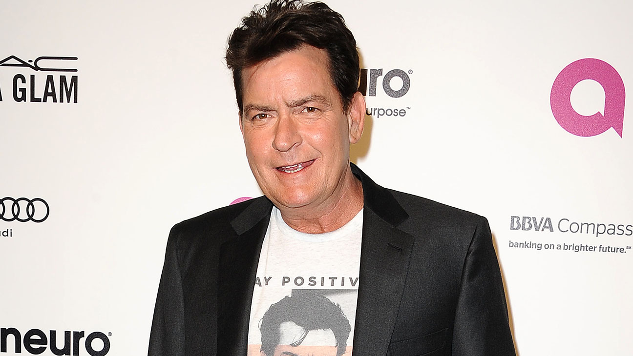 Charlie Sheen -24th annual Elton John AIDS Foundation's Oscar viewing party-Getty-H 2016