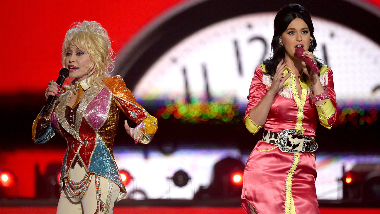 Katy Perry and Dolly Parton GETTY  - H 2016