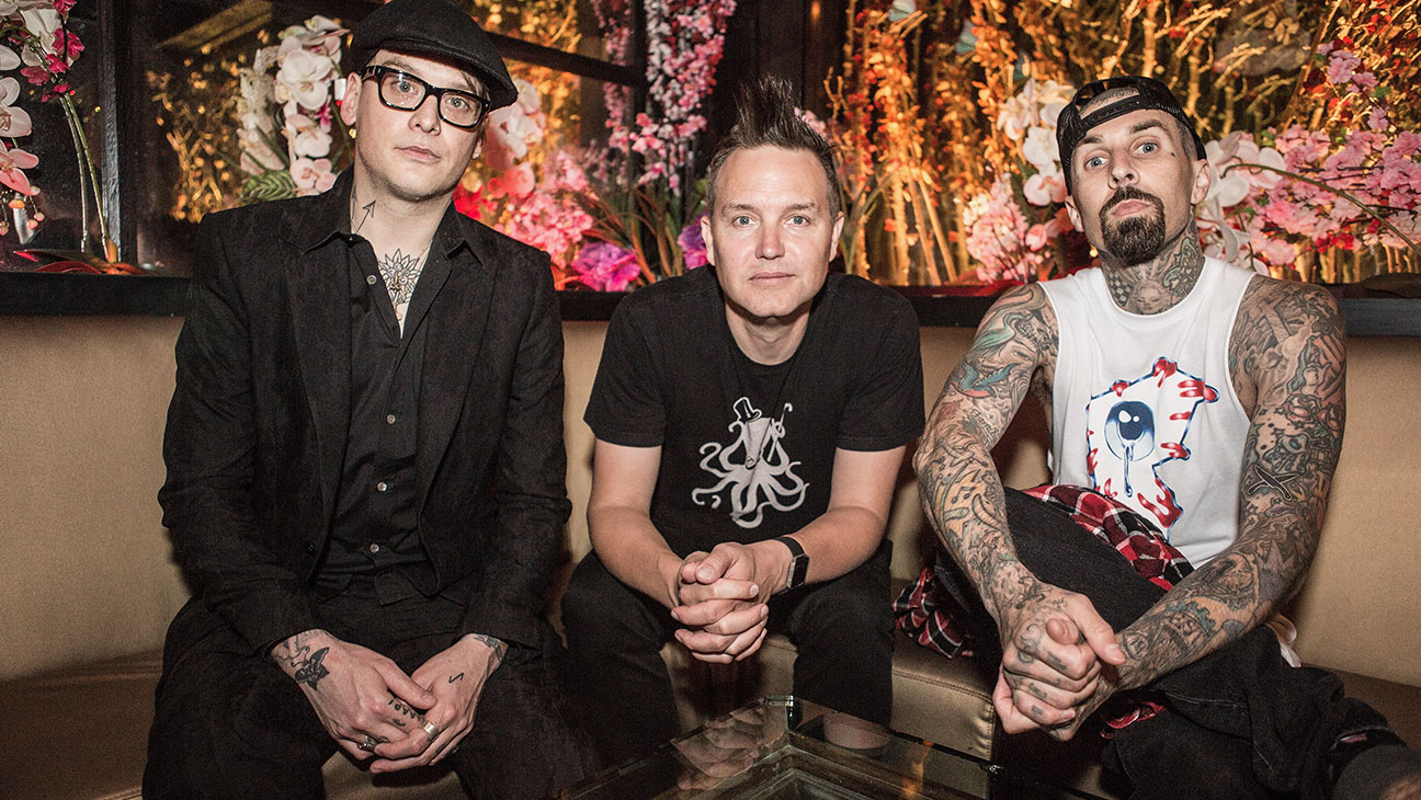 Blink 182-Matt Skiba, Mark Hoppus and Travis Barker -Getty-H 2016