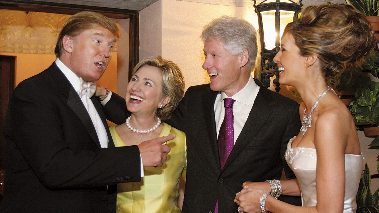 Flashback: When Hillary and Bill Hit the Wedding of Donald and Melania