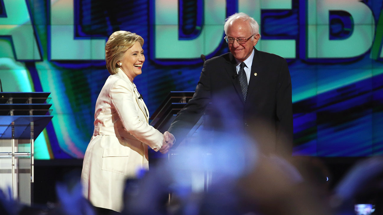 Hillary Bernie CNN Debate - Getty - H 2016