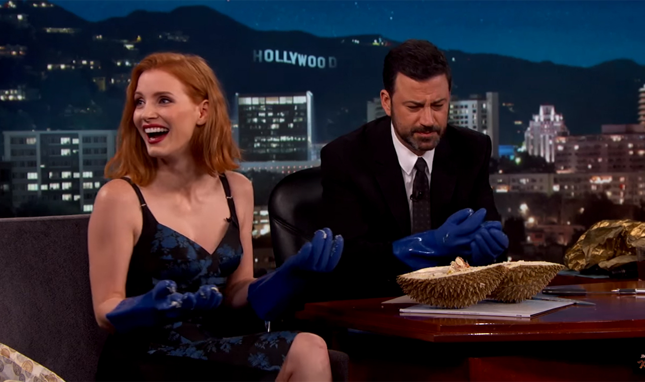 Jessica Chastain Jimmy Kimmel Durian H 2016