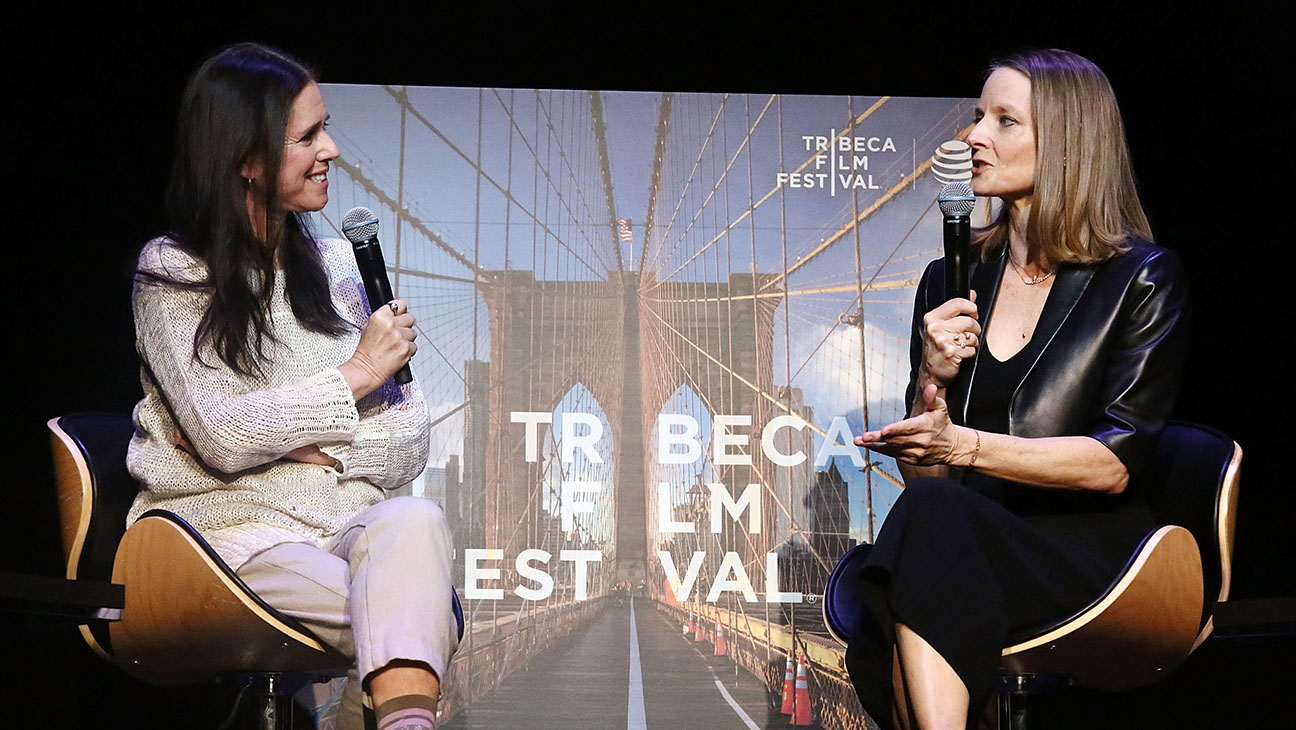 Julie Taymor and Jodie Foster - Getty - H 2016