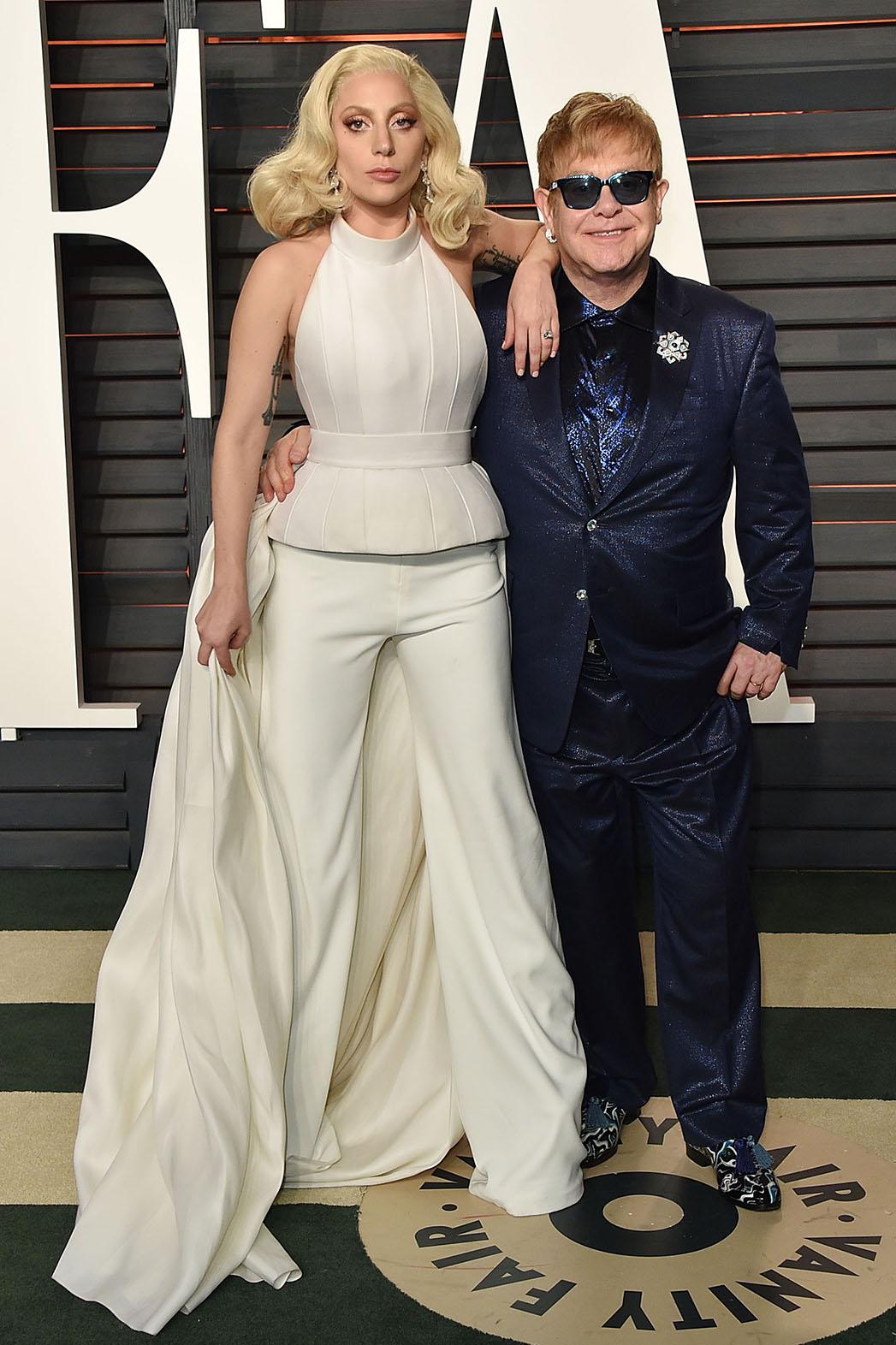 Lady Gaga Elton John - Getty - P 2016