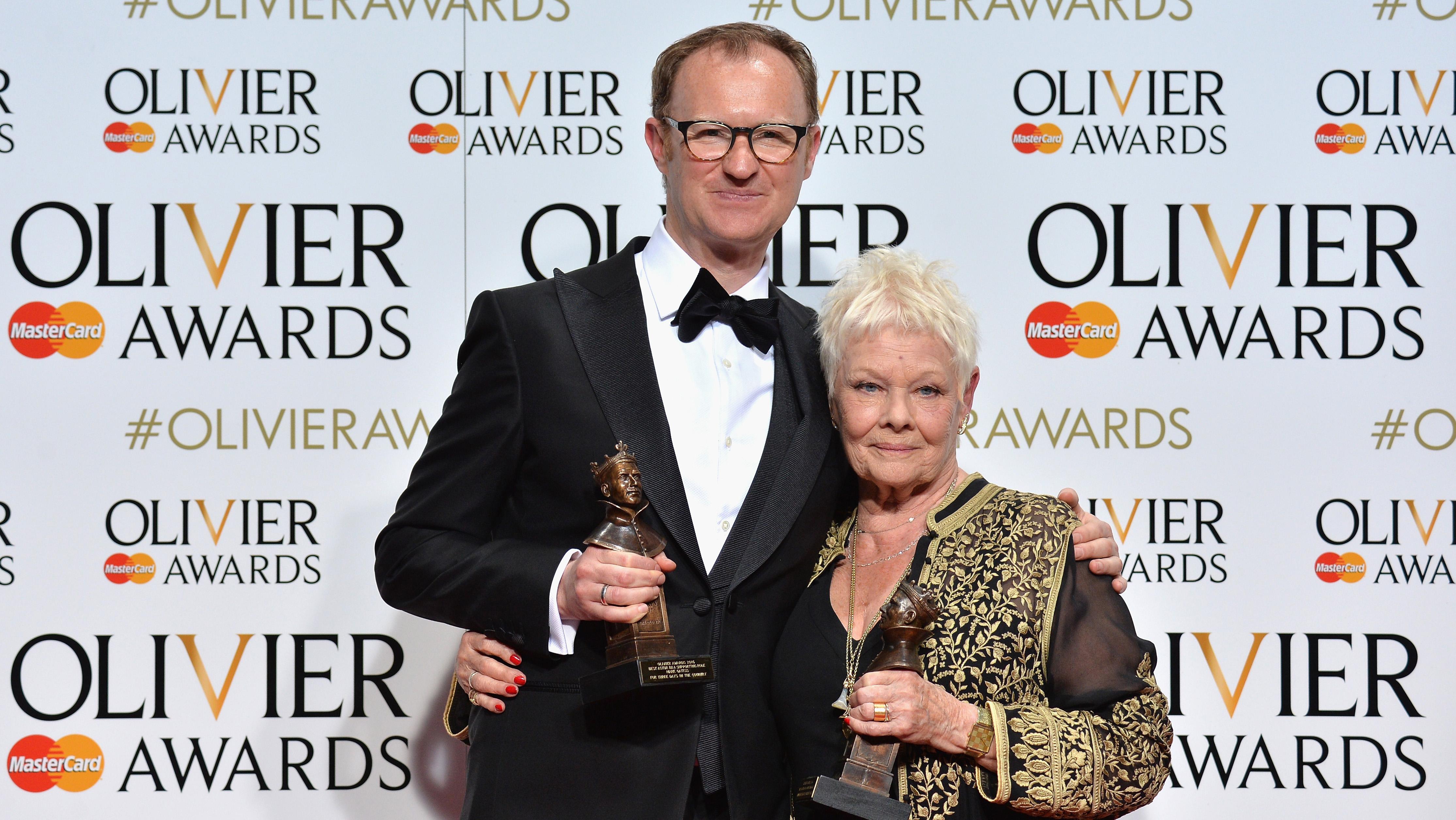 Mark Gatiss and Judi Dench - Getty - H