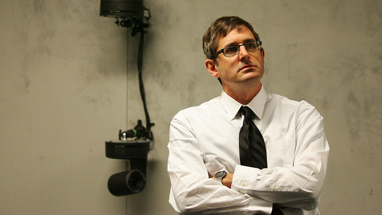 MY SCIENTOLOGY MOVIE - Louis Theroux sitting inside the reconstruction set-H 2016
