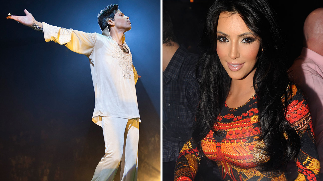 Prince and Kim Kardashian 2011 Split- Getty-H 2016