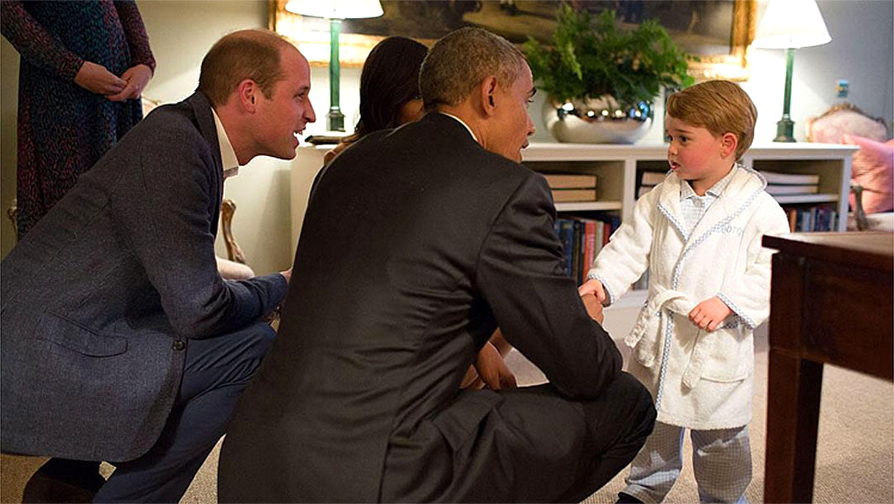 Screen Shot-Prince George meets The President and First Lady of the United States -H 2016