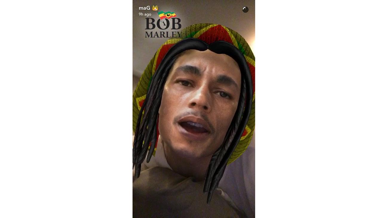 Snapchat account of Kylie Jenner -Bob Marley -Screen shot- H 2016