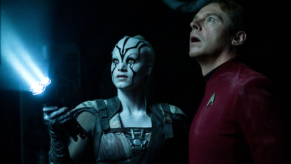 Star Trek Beyond Still 1 - Sofia Boutella and Simon Pegg- h 2016