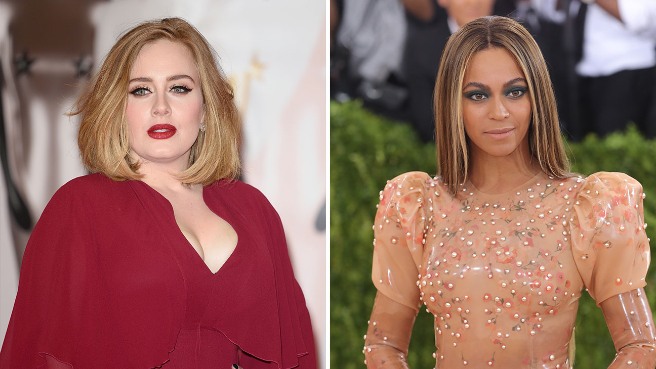 Adele Beyonce Split - Getty - H 2016