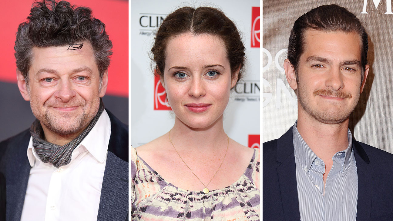 Andy Serkis_Claire Foy_andrew garfield_Split - Getty - H 2016