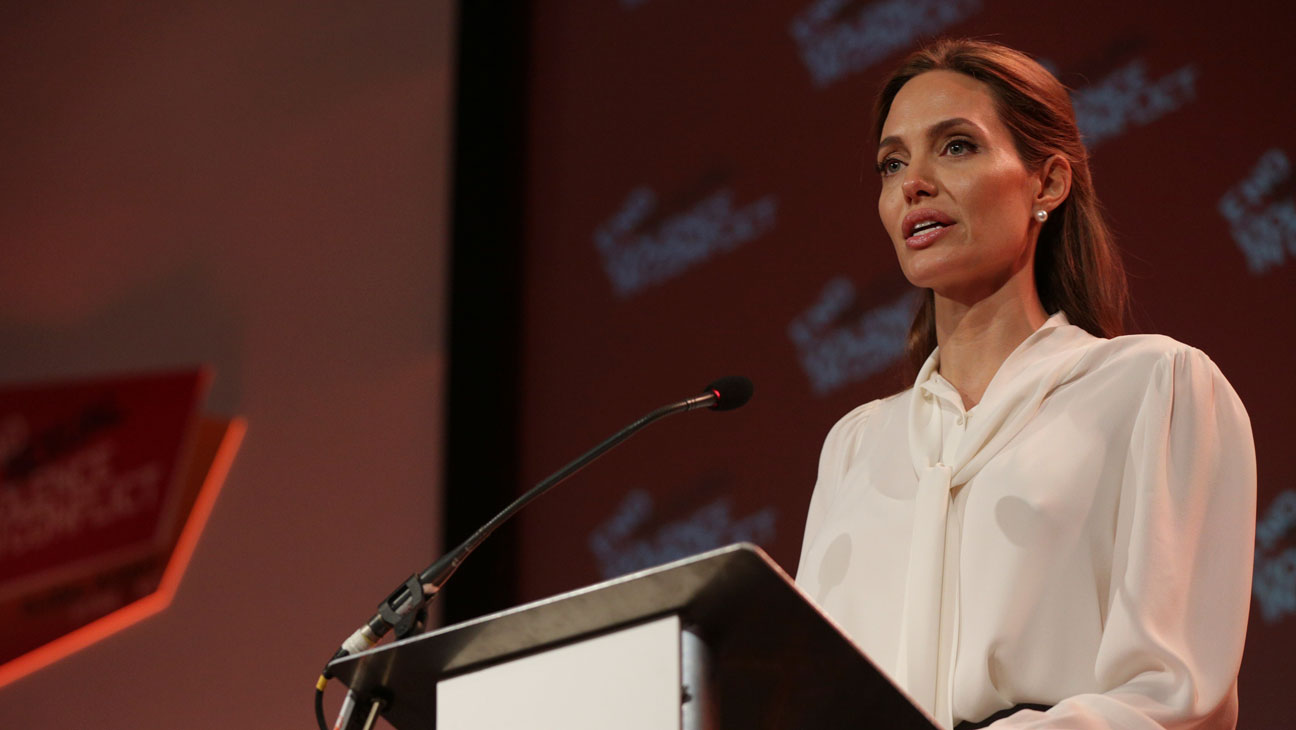 Angelina Jolie Global Summit to End Sexual Violence - GETTY - H 2016