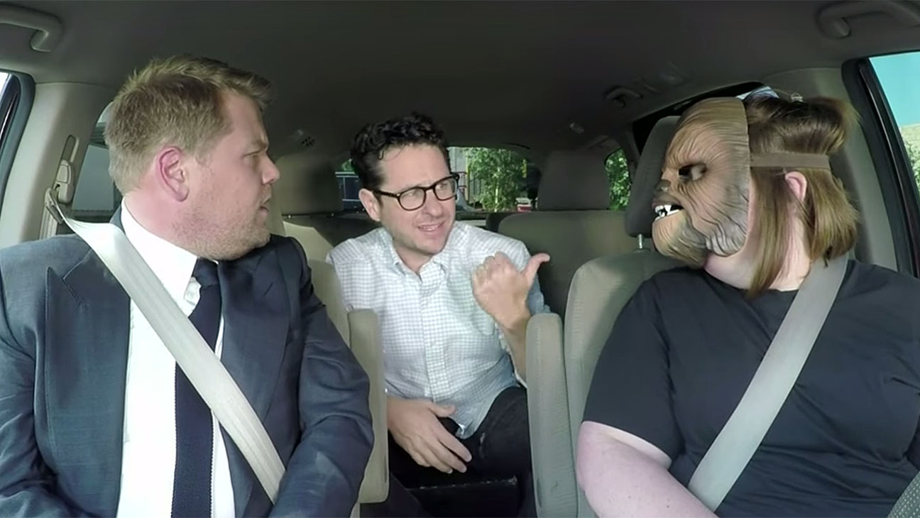 Chewbacca Mom Takes James Corden to Work-H 2016