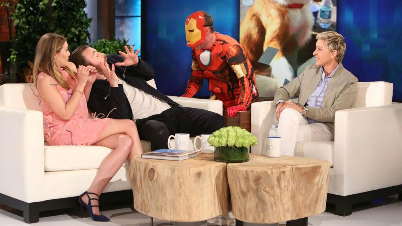 Chris Evans Scared on 'Ellen' — H 2016