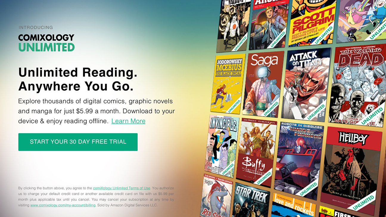 Unlimited Landing Page-ComiXology-H 2016