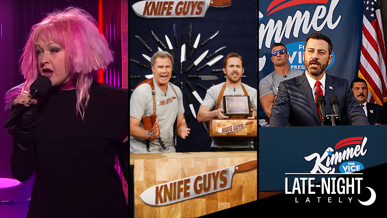 Cyndi Lauper-Knife Guys-Jimmy Kimmel-Split-H 2016