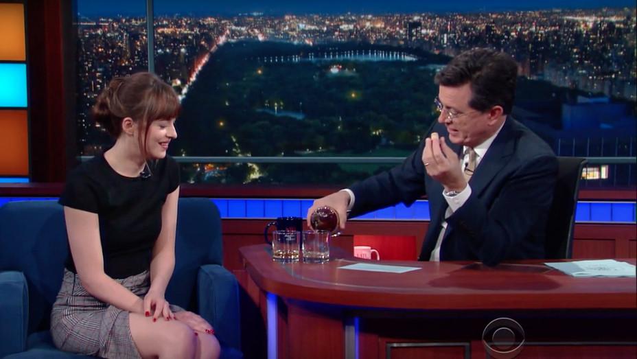 Dakota Johnson and Stephen Colbert — H 2016