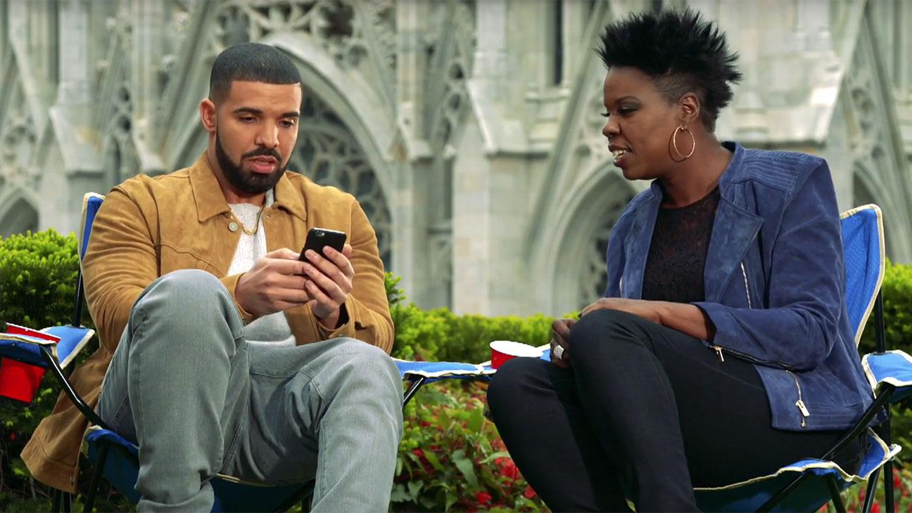Drake Answers Hotline Bling in SNL Promo -Screen Shot- H 2016