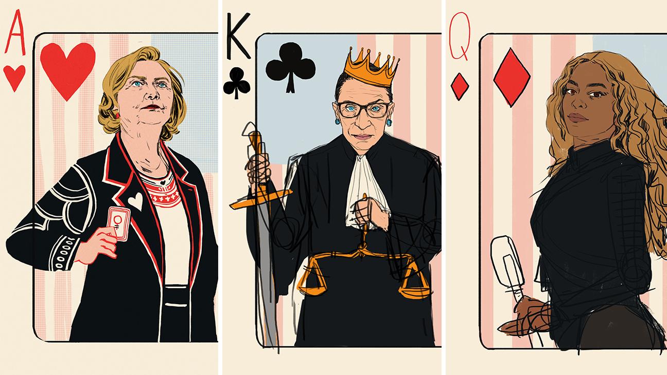 Fem playing cards split - H 2016