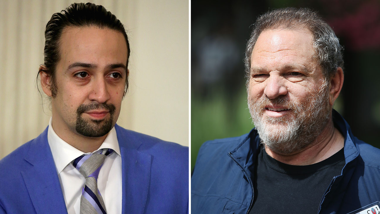 Lin Manuel Miranda Harvey Weinstein Split H 2016