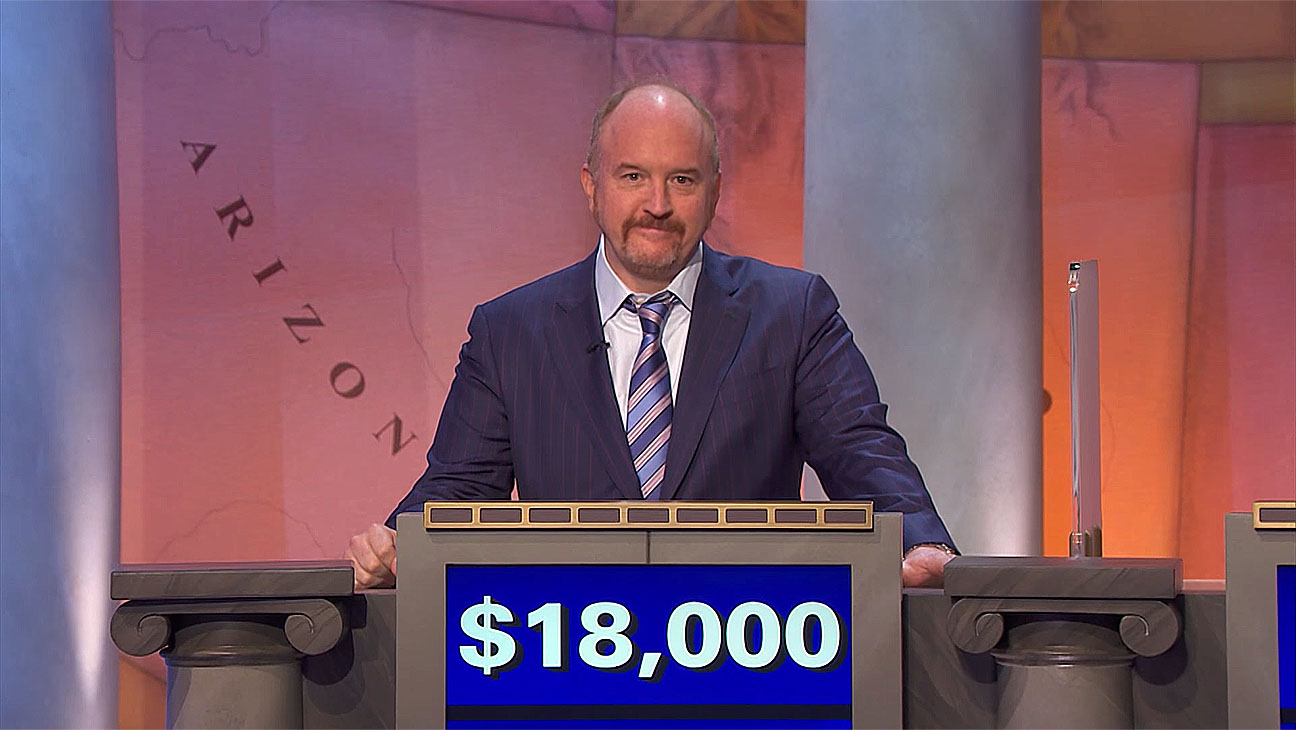 Louis CK on Jeopardy -may 18-Screen Shot-H 2016