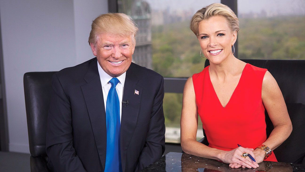 Megyn Kelly - Fewer Female Guests Than Her Rivals-Megyn Kelly and Donald Trump-H 2016