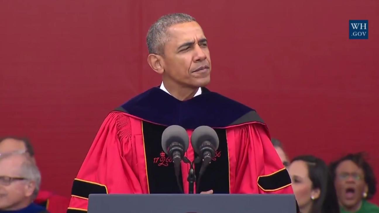 President Obama at Rutgers Graduation - H 2016