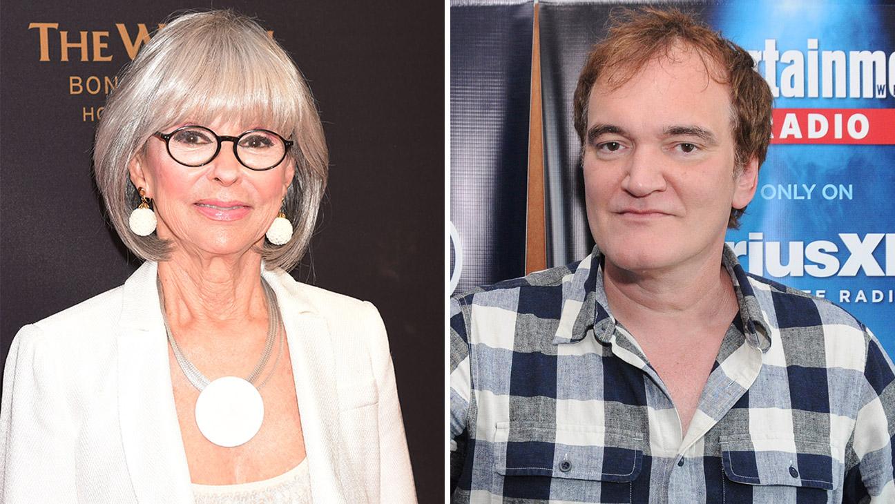 RIta Moreno and Quentin Tarantino Split  - H 2016