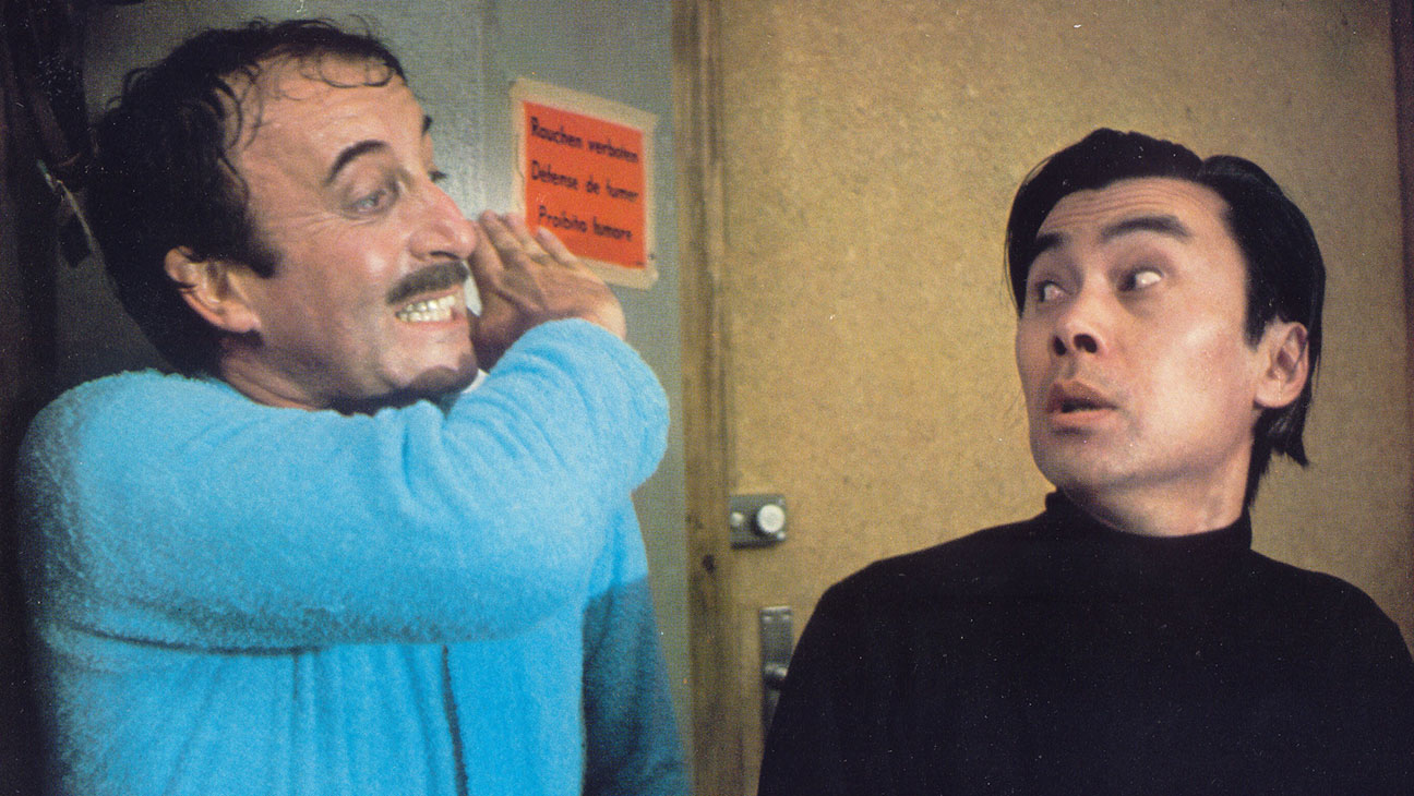 The Return of the Pink Panther (1975) - Peter Sellers  and Burt Kwouk -photofest-H 2016