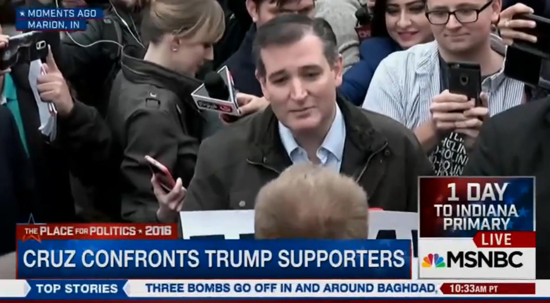 Cruz Trump Protester - H 2016