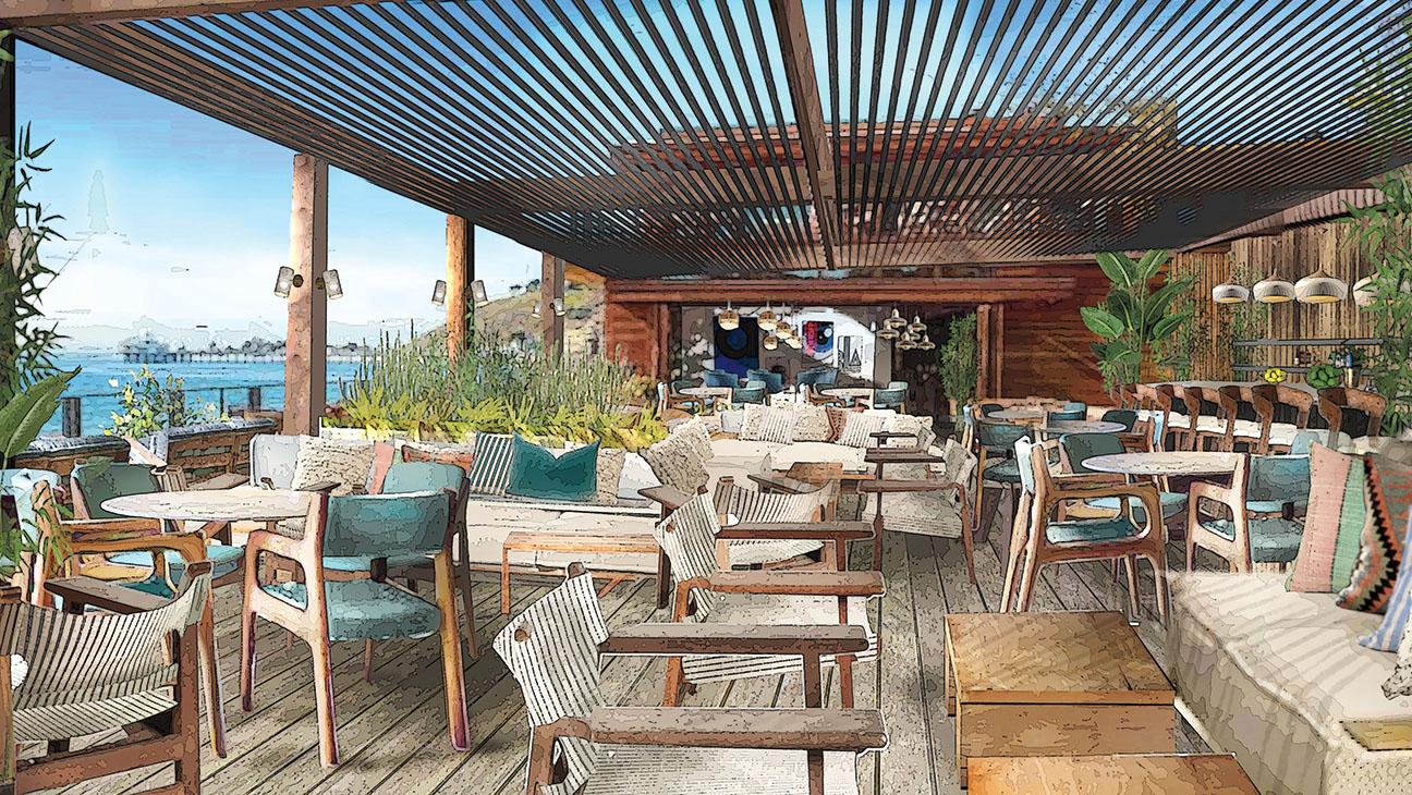 Soho House Malibu Terrace Rendering - Publicity - H 2016
